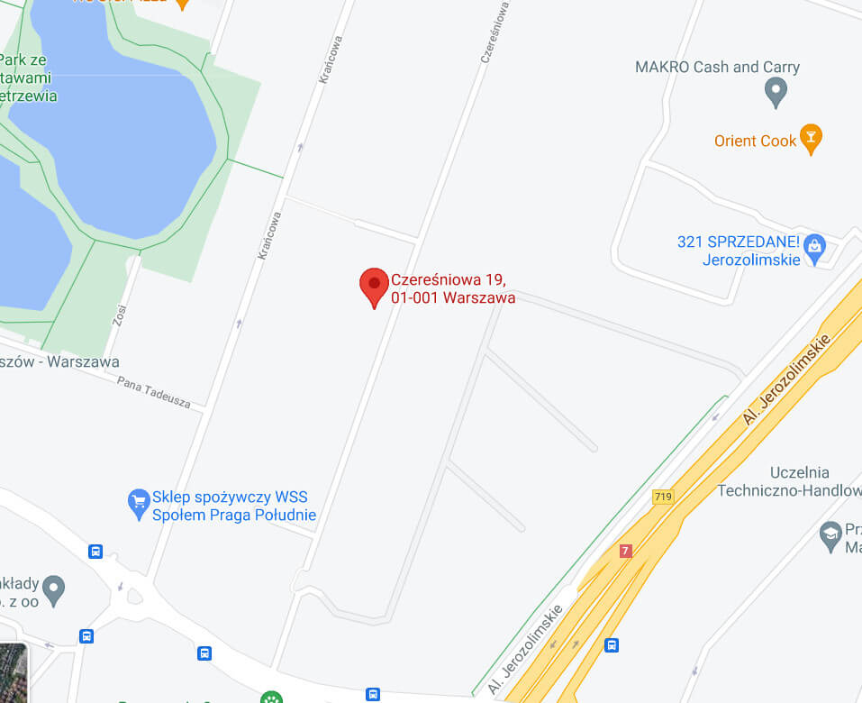 Mapa dojazdu do siedziby Stowarzyszenia energetyków polskich oddziały w Warszawie